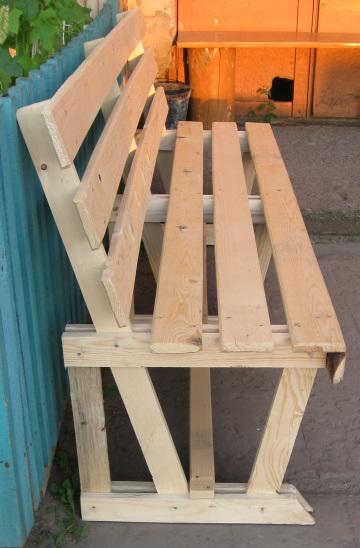 Сделай сам своими руками из дерева скамейку